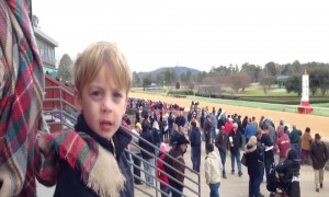Little Boy Blames Mom for His Horse Losing