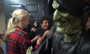"Tears and thrills as NYPD and MTA hold inaugural ""Haunted Subway"" event in New York City"