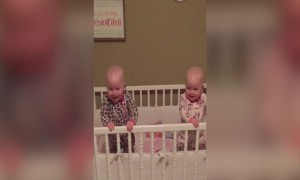 Twin Babies Can't Stop Laughing at Silly Mom!