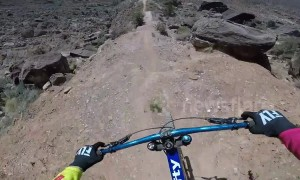 Stomach-dropping POV footage shows painful bike crash