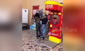 Epic fail: Boxing machine challenge goes spectacularly wrong