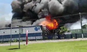 Major fire breaks out at pharmaceutical building in Sao Paulo, Brazil