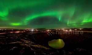 Stunning timelapse of Northern Lights over Iceland