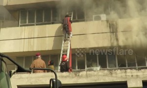 Government building catches fire in Pakistani capital