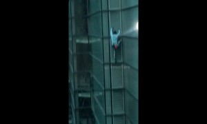 'French Spiderman' seen climbing City of London tower
