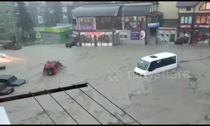 Severe flooding turns streets to rivers in southern Russian city