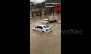 Severe flooding causes chaos in southern Russian city