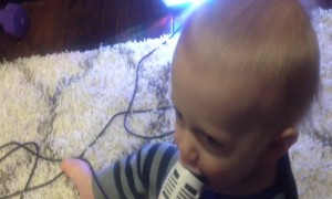 Baby's reaction to Microphone will have you Laughing!