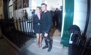 Love Island stars Megan Barton-Hanson and Wes Nelson arrive at exhibition launch