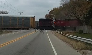 Train Wipes Out Semi