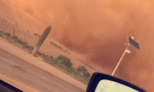Huge Dust Devil Passing By