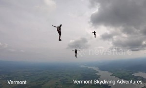 50 skydives in 50 US states — all in four minutes and all for charity!