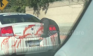 Too far? 'Dead body' Halloween mannequin terrifies LA drivers
