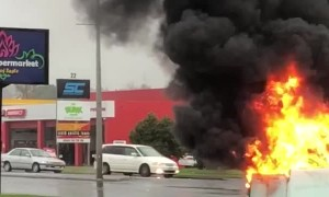 Transformer Goes up in Flames