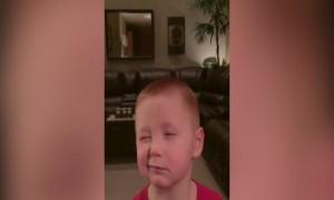 This Boy has the BEST Tough Face!