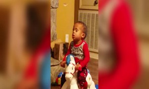 Funny Baby Rocks himself to Sleep