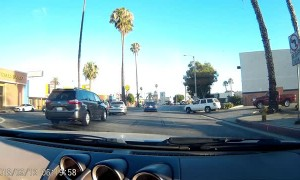Accident Causes Car to Catch Air