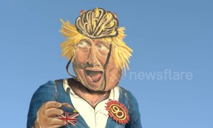 Boris Johnson has been revealed as the Edenbridge Bonfire guy 2018