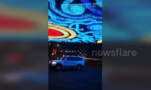 Overpass in China illuminated with 'Starry Night' display
