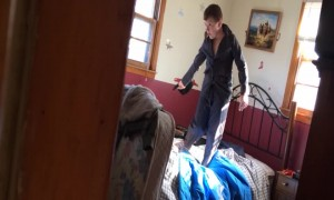 Mom Catches Son Acting Silly!