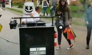 Disco Ball Baby Halloween Costume with DJ Marshmello