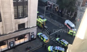 Armed police at Sony HQ in London after stabbing incident