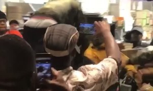 Fast Food Workers and Customers Brawl