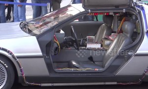 Back to the Future Time Machine at London motor show