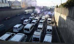 Ambulances block roads in Paris as paramedics strike over reforms