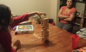 Daughter Falls Playing Jenga
