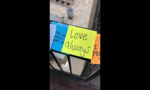 High school students spread positive messages with colourful post-it notes after teen attempts suicide