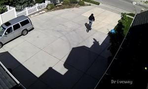 Bike Thief Receives Instant Karma