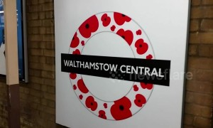 Walthamstow Central station unveils new poppy roundel ahead of Remembrance Day
