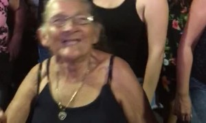 Grandmother Joins in the Fun at Concert