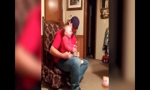 Baby can't stop Giggling when Playing with Grandma