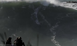 Nazaré surfer gets wiped out scaling 60ft wave