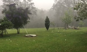 Giant Hail Come Crashing Down