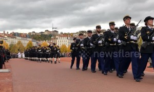 Armistice Day marked at solemn ceremony in Lyon, France