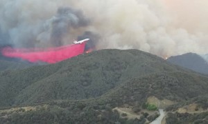 Woolsey Fire Tanker Low Pass Drop