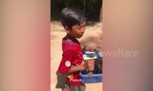 Poverty-stricken boy, 9, can speak twelve languages