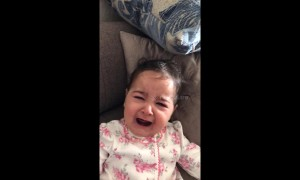 Baby has hilarious reaction to seeing her dad without a beard for the first time