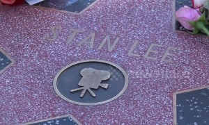 Memorial flowers placed on Marvel Comics legend Stan Lee's Hollywood Walk of Fame star