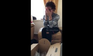 Mother's emotional reaction to gift after loss of her father