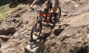 Mountain Biking Fall Scary Close Call