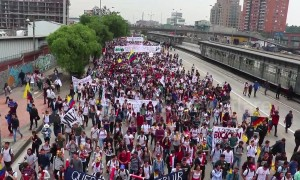 Colombia students continue protest for higher education budget