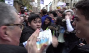 Scuffles and conflicts during Oxford Union protests against Steve Bannon speaking