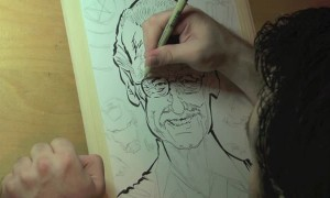 Artist uses only a pen to create insanely detailed Stan Lee portrait