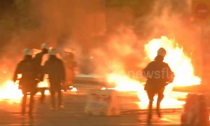 Anarchists hurl Molotov cocktails at police in Greek city of Thessaloniki