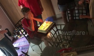 Little brother gets surprise visit on birthday