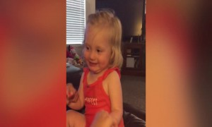 Laughing Little Girl shows off her Serious Side